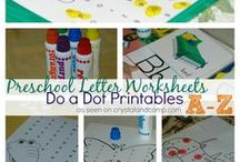 Preschool Letter Worksheets  / A collection of preschool letter worksheets that use do-a-dot markers for identifying the letter of the week  you are working in.  / by Crystal (www.crystalandcomp.com)