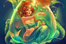 ★ Fantasy ★ Mermaids / Mermaids, Mermen, Merfolk, Etc. / by Heather Reid