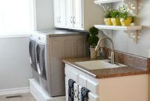 Laundry Rooms / inspiration for my dream Laundry Room! / by Linda {Craftaholics Anonymous®}