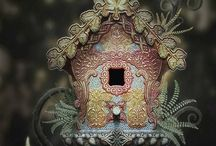 Bird Houses/Feeders / Interesting bird homes and my recycled creations... / by Cheryl Ann Cavurro