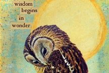 inspirational owls  / speaking words of wisdom, let them be / by emy l