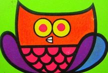 3 whimsical owls / sweet colourful whimsical owls  (i don't add to the board after 300 pins. for more, please see Volumes 1 to 9 -- thanks for looking!) / by Emy L