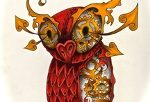 owls, edgy / they're not pretty, whimsical nor cute.  but i love them all the same. / by Emy L