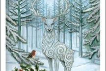 Seasons - Winter / Yule midwinter alban arthan winter ... / by Janneke Maat