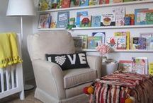 """JJ's Nursery / """"Enjoy the Ride"""" theme in aqua, yellow/ mustard and coral/ melon accents / by Erin Clarke"""