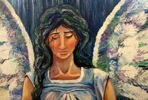 angel paintings / by Laura Walker