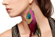 Moonlight Feather Earrings ♥ / It's one of a kind feather earring from Moonlight Feather.  / by Moonlight Feather