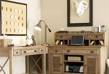 Work it! / Work from home, be inspired by your surroundings.  Home Gallery Stores presents an eclectic mix of home office furnishings to suit your taste and function needs. / by Home Gallery Stores