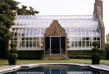 greenhouses & sunrooms / orangery / greenhouse / glasshouse / hot house / conservatory / sunroom / by Lyndy