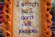 """Stitchery / These patterns/designs/products are not mine.  Unless the description says """"free,""""  the pins are for inspiration, admiration, or with links to purchase. / by Julie Sharp"""