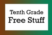 Tenth Grade Free Stuff / Free teaching ideas, worksheets and fun classroom activities for tenth grade students. / by Brian Crawford