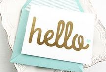Stylish Stationary / Stationary, Paper and Invitations that Make Me Happy / by The Chic Site (Rachel Hollis)
