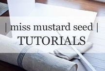 | mms TUTORIALS | / Home decor tutorials from my blog as well as freelance articles I've written for HGTV.com.  Find more at www.missmustardseed.com / by Miss Mustard Seed