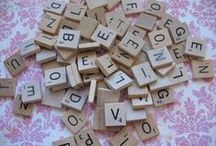 Scrabble Tiles / Ideas for Scrabble Tile Letters / by Stampin D'Amour