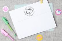 Hello Kitty / Shop our large selection of customizable Hello Kitty address stamps, only on Expressionery.com! / by Expressionery
