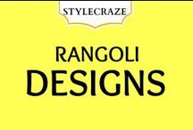 Rangoli Designs / Rangoli is a form of art, and usually drawn by Indian women in front of gates or doors during special occasions and festivals like Diwali or other Hindu festivity. / by StyleCraze
