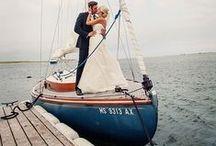 Nautical Wedding Ideas / Blue and white nautical ideas for glamorous coastal weddings / by Beau-coup
