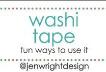 Washi Tape Fun Uses / Sharing fun ways to use washi tape to inspire memory making for future scrapbooking layouts.- www.jenwright.net / by Jen Wright