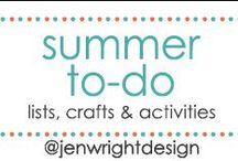 Summer To-Do / Sharing lists, crafts & activities for Summer To-Do to inspire memory making for future scrapbooking layouts.- www.jenwright.net / by Jen Wright