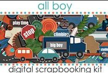 Kits: All Boy / Digital Scrapbooking Kit created by Jen Wright Designs featuring cars, roads, trucks, masculine style. Blog-www.jenwright.net / by Jen Wright