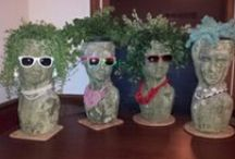 Head Planters & plants to go with them / Great Idea's / by Lori Jacobs