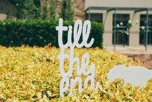 wedding {signage ideas} / by The Pretty Blog