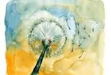 Art-Watercolor Inspirations / Art Ideas and Inspirations...Sealife, Animals, Flowers, Nature, etc...Using Water Color Techniques. / by Leah Fox