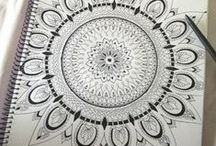 Doodlicious & Zentangles* / *Zentangle is a registered trademark of Rick & Maria @ zentagle.com. They have loads of great info on their blog. / by Kimberly Colella Hogan