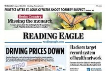 Front pages / The, well, front pages of the Reading Eagle, the daily newspaper in Reading, Pa. / by Reading Eagle