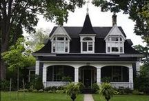 A Trip Down Cottage Lane...The Little Black and White Cottage. / by Avis Blowers