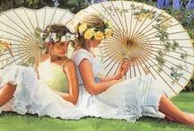 Sombrinhas- Beleza e Arte/ Umbrellas  / by Kalidi