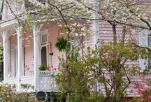 "Cottage & Beach Homes / I love my 1940's home..it has a ton of character..thanks to all of you I got the nerve to ""PINK"" up the front..LOVE IT...not sure what the neighbors think..let's just hope their Pinners / by Cindy Hart"