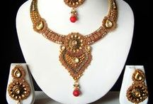 Designer Necklaces Online / Necklace have always been an important asset to any jewelry collection. With its use as old as the Stone Age at 40,000 years old, necklaces were originally made with more natural materials like stone, bone, shells, and wood. / by Utsav Fashion