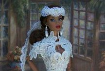 Barbie & Barbie-like doll Brides / Barbie Brides - some of their dresses are as exquisite as real bridal gowns.  This board represents Barbie and Barbie-like dolls, they are really lovely!! / by Ginger Wirt