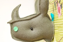 Faux Taxidermy / Faux and real taxidermy: deer, rhinos, dinos and moose! / by FreshStitches