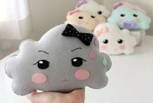 Cloud / Cloud decor for the home and nursery. Kawaii products. / by FreshStitches
