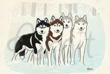 My dogs illustrations / by SiberianArt by Amit Eshel