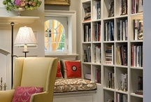 Bookcases / Home Library / Heaven, the Bookworm Edition. book shelves, reading nook, books, bookcase.  / by Lena