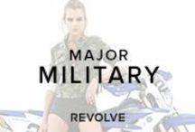 MAJOR MILITARY  / Uniform of army greens, camo prints & utilitarian details.  / by REVOLVE (revolveclothing.com)