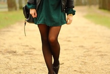 How to combine skirts, tights and boots / by Tina Rose
