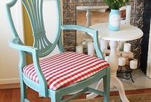 Paint It Pretty / So many different ways to rescue those old surfaces, from walls to furniture ... I LOVE to paint! / by Mary Jo @ Sunflower Daze Farm