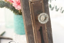 Table Numbers & Seating Card Ideas / by The Farmhouse Weddings LLC