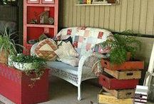 Pimp my porch / Porches are incredibly challenging but fun to decorate! I love my country porches, with views of my 2.5 acre wooded property and pond, and they deserve my extra love and attention! / by Adriene Smochek