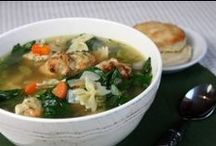 Food: Soups and Salads / light and hearty soups and salads / by Stephanie Pilato