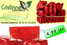 Cosmetice naturale cu 50% discount / by Cristinne Cosmetics