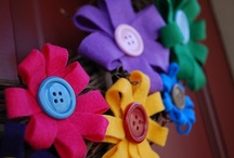fabric and Felt Flowers / by Susan V