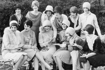"""Roaring 1920's / Welcome to the 1920's! America was now entering what would become an era of bobbed hair Flappers, wearing feathered headbands and above the knee dresses. Raccoon coats, rumble seats, Speakeasy's (where you had to be """"a friend of Joe's"""" to be admitted). The Charleston, Peabody and Foxtrot became all the dance craze and the phrases,""""Oh You Kid"""" and """"23 Skidoo"""", were all part of what was referred to as The Roaring Twenties! / by Kathy Moore"""