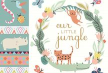 | w i l d F r i e n d s | / Savannah & Jungle Animals inspiration board - tropical, exotic illustration, art  / by lesMoutaines Bêêêêê