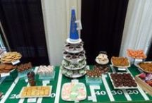 Sports Dessert Table Ideas / Our school is hosting an auction with a dessert table! This board will catalog all ideas for sports decorations and desserts! / by Flour Box Bakery