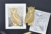 printmaking / rubber stamps, linocuts, block prints, silkscreening and more / by Amy Durr